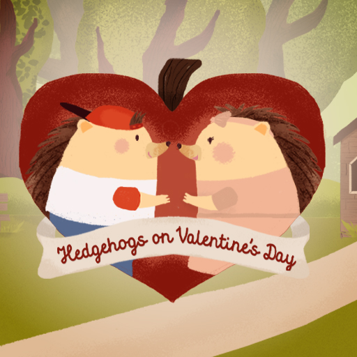Hedgehogs on Valentines Day