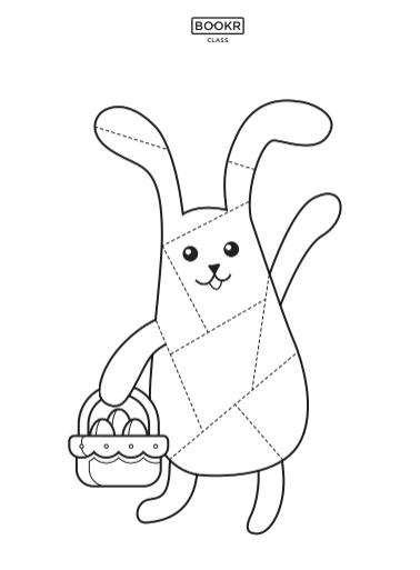 easter activites worksheet bunny